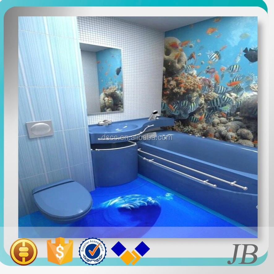 Factory Wholesale Hot Peoduct 3d Vinly Bathroom Flooring