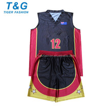 Breathable mesh man basketball uniform black OEM