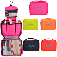 Hot sale hanging cosmetic bag for ladies toiletry cosmetic bags