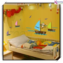 monkey seek dream boating in the sea wall decal zooyoo7043 decorative adesivo de parede removable pvc wall sticker