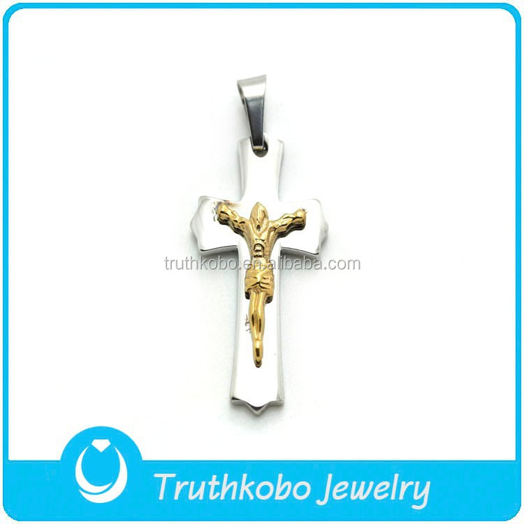 TKB-P0237 Catholic Crucifix Jesus Cross Images Gold Plated Good Quality Pendant