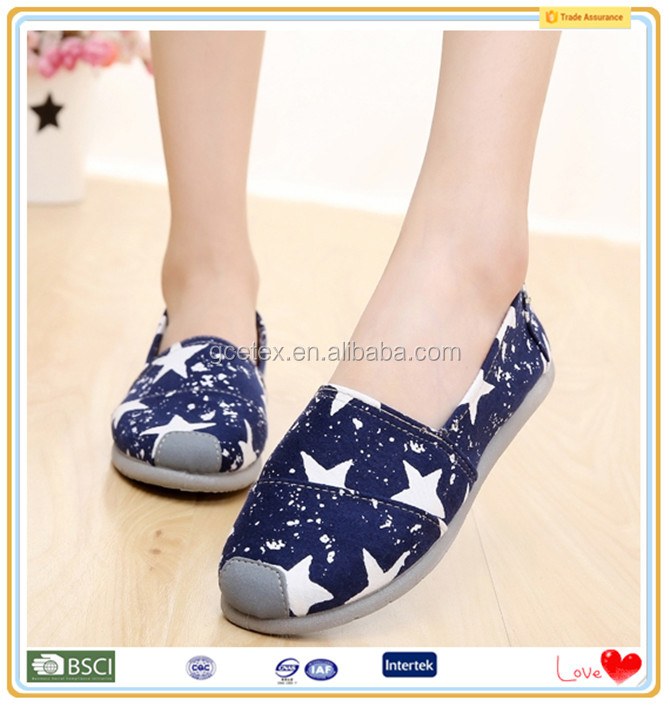 2016 Canvas lucky star wholesale china shoes