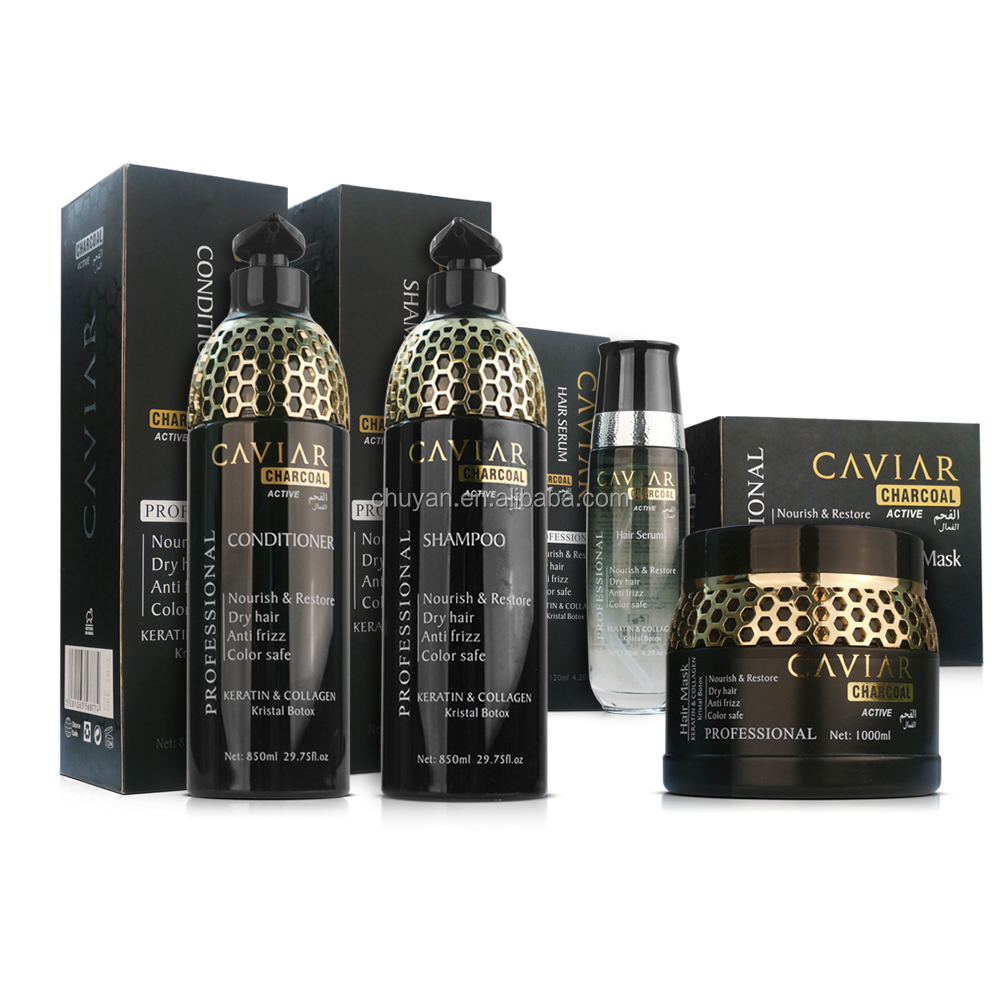 OEM/ODM 850ML Hair care product Moisturizing hair shampoo with caviar