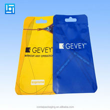 custom printed laminated material plastic wire bag zipper plastic cable zip lock bags with custom logo