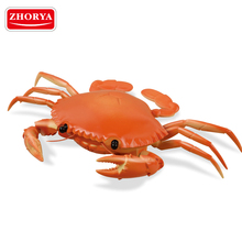 Zhorya 4 channel kids novelty rc plastic sea crab toy with 360 degrees revolving eyes
