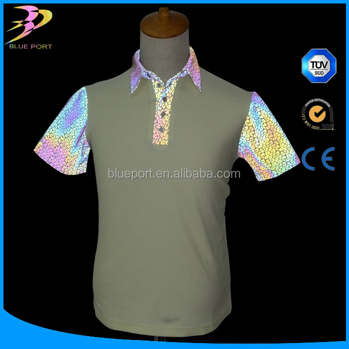 New products on china market fashion colorful reflective print fabric
