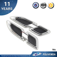New ! ABS Side Wing Air Flow cover For Toyota 2016 Prius Fender Grille Vent trim Auto accessories from Pouvenda