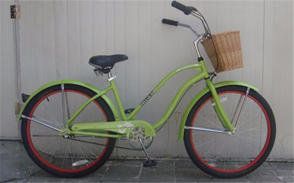 beautiful green26 inch beach cruiser bicycle for sale beach bike with basket ladies beach bicycle for sale