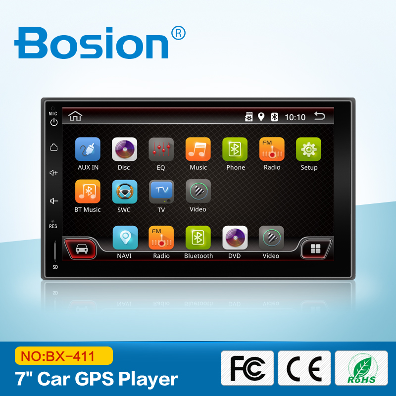 2 Din Android Car navigation player without dvd vcd and with GPS Radio Bluetooth for universal cars