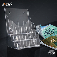 Acrylic A4 Paper Holder Literature Magzine Holder