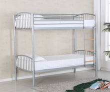 Heavy Duty Twin Over Twin Steel Metal Bunk Bed With Wood Stairs Y