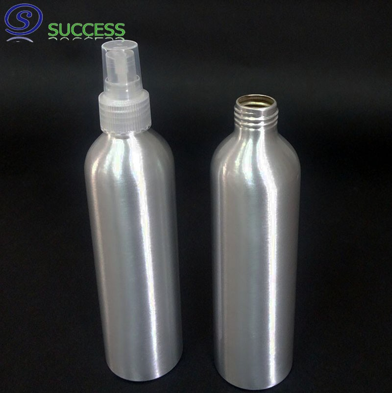 250ml Natural Aluminum Bottle With Sprayer