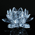 China regional feature clear big size tealight lotus flower candle holder wholesale