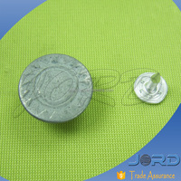round square silver screw shank jeans button with low price