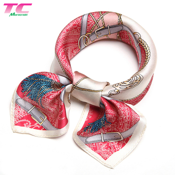 Silk Printed Scarf Women's Fashion Pattern Mulberry Silk Square Scarf Headscarf, Silk Scarf Manufacturing