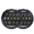"Upgraded High Lumen DOT 75W 7 inch 7"" round led headlights for Jeep"
