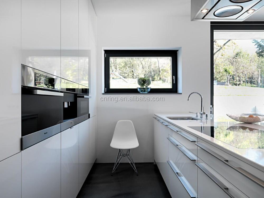 2015 Modern Kitchens Set Open Shelf White Lacquer High Gloss Kitchen Cabinets