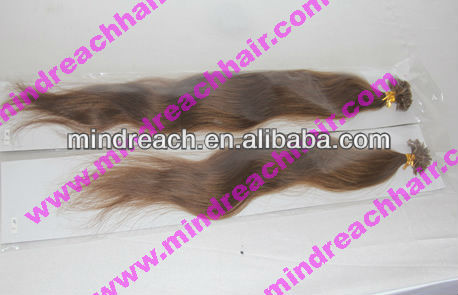 Beauty style natural wave 6# chinese virgin hair U-tip extension