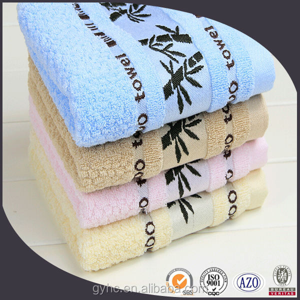 wholesale 100 cotton embroidery bamboo fiber face towels fabric
