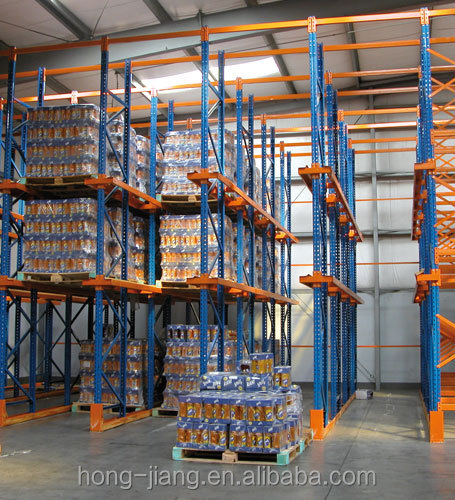 Stackable Standard Drive In Thru Pallet Rack With Warehouse