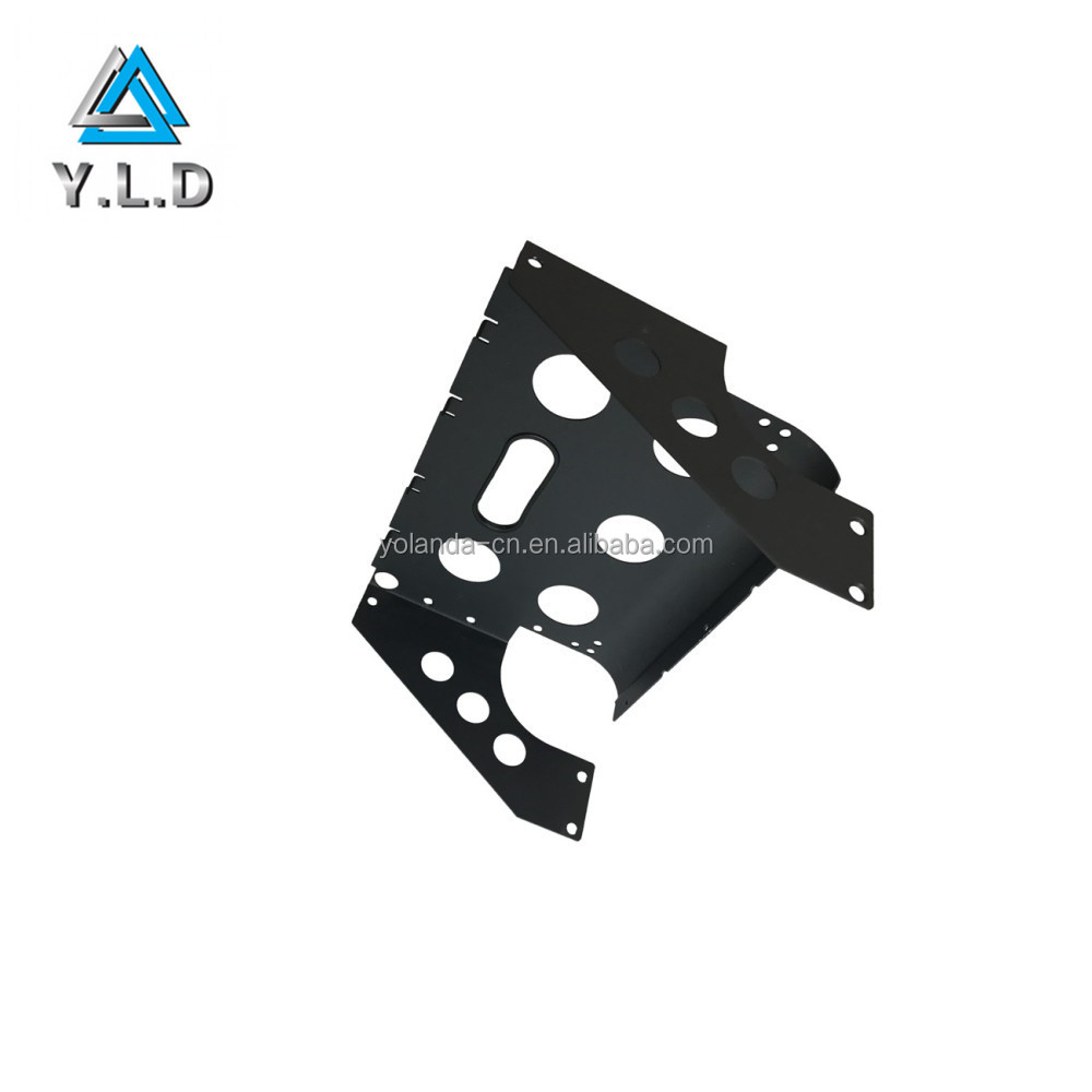 Custom Aluminum Black Powder Coating CNC Punching Golf Carts Mounted Bracket