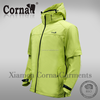 Any season unisex fluorescent green high visibility custom soft shell jacket