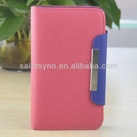 12032 Leather belt clip case for samsung galaxy note i9220