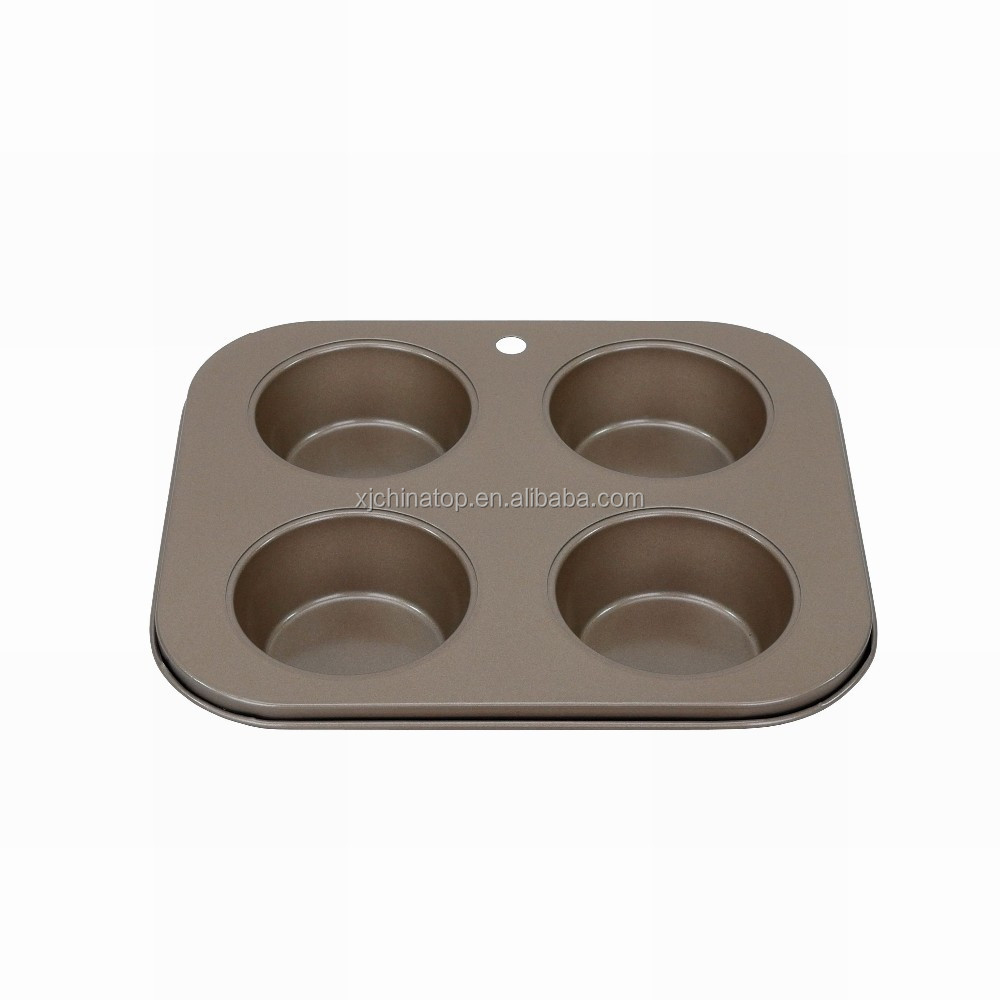 JK16205AB medium size Non-Stick 4 cup Cupcake Cup Muffin Pan