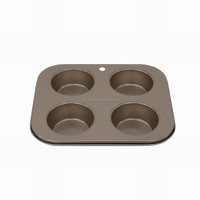 JK16205AB medium size Non-Stick 4 cup Muffin Pan