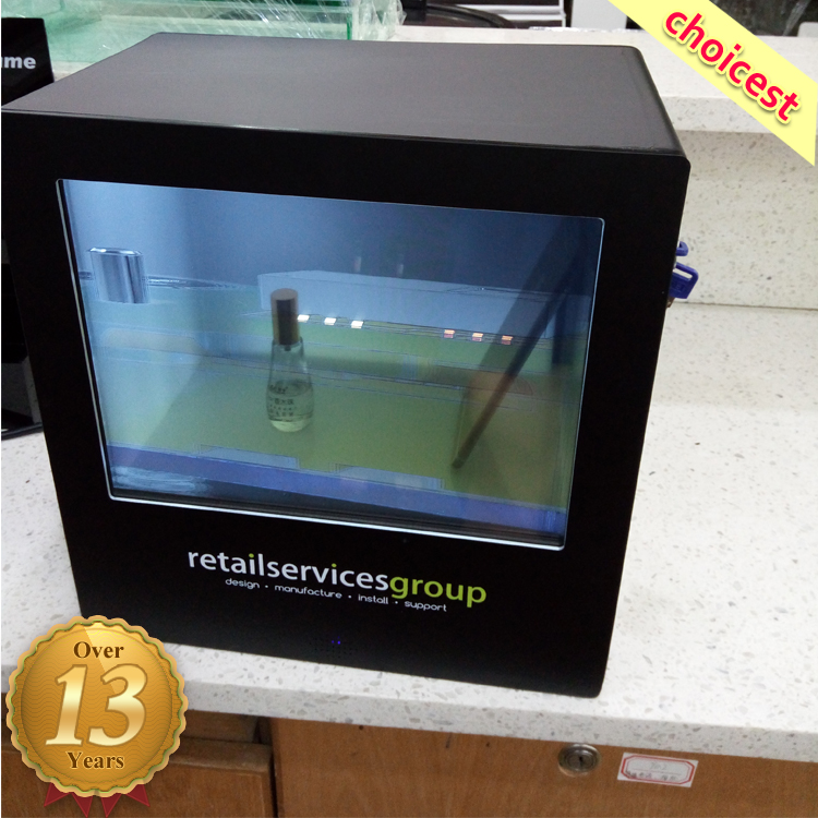 Small Transparent Lcd Screen Display Showcase For Food/Wine/Cigarette/Watch,etc