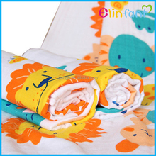 Elinfant non-blooming double-deck cartoon increased gauze baby washcloth