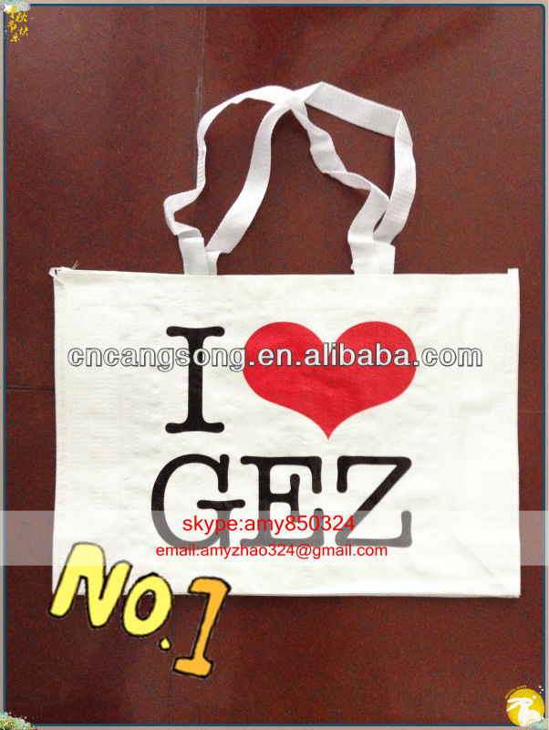pp woven recycle shopping bags with handle Manufacture