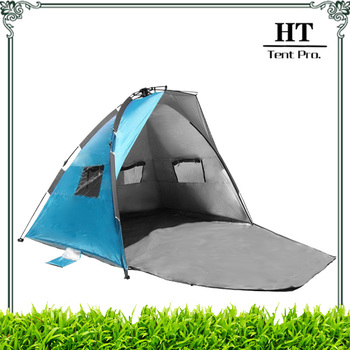 Instant Up Quick Sun Shelter Camp Tent with Mesh Windows Folding Tent