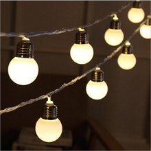 colorful small ball bulb led Christmas string lights outdoor