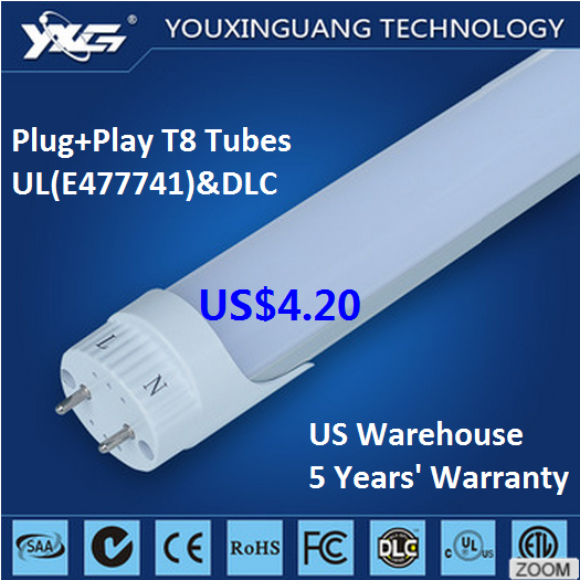 lastest factory direct sale price UL DLC certificates xxx japan t8 18w av tube led lights animal tube play+plug tubes