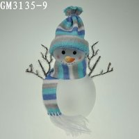 Lovely glass christmas snowman ,christmas decoration
