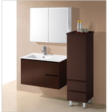 Modern fairmont designs open shelf modular bathroom vanities