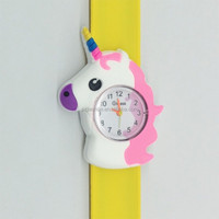 2018 hot selling silicone children wrist watch, cute silicone slap watch for kids