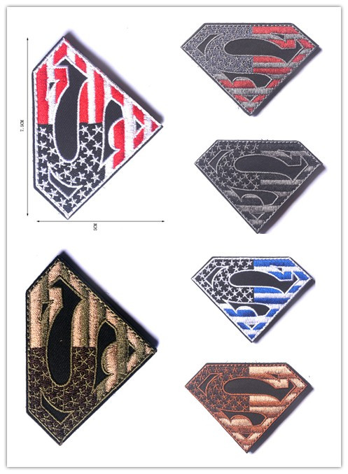 Superman Spiderman cartoon clothes patch 3d patch embroidery iron-on appliques Cloth Patch Popular Superman Embroidery Garment