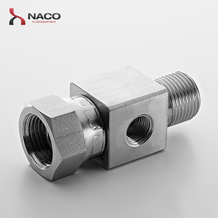 Stainless steel non standard threaded reducing tee