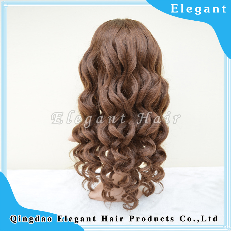 Tangle free body wave Virgin Brazilian Human Hair 100% unprocessed U part lace wig