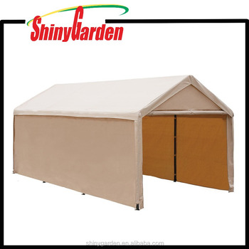 10x20ft Heavy Duty Beige Carport, Car Canopy Versatile Shelter with Sidewalls