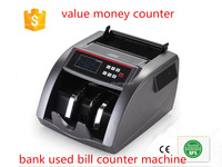 LCD and LED display money counter mix denomination value bill counter cash counting machine high quality banknote counter
