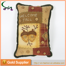 Hot sale home rectangle pillow decoration for Harvest Festival