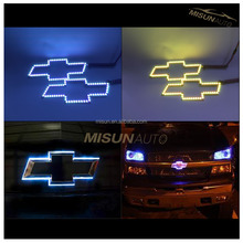 rgb halo rings car logo brand mark led light for Chevy
