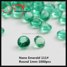 New Product Loose Faceted Cut emerald Nano Crystal On China