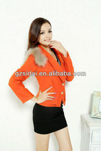 2013 Latest with fashionable cheap fur collar coats