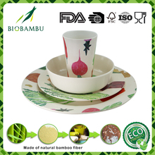 OEM available printing biodegradable bamboo Chinese kitchenware set