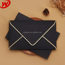 Alibaba China Luxury Hot Stamping Pearl Paper Envelope With Edge Gold Stamping
