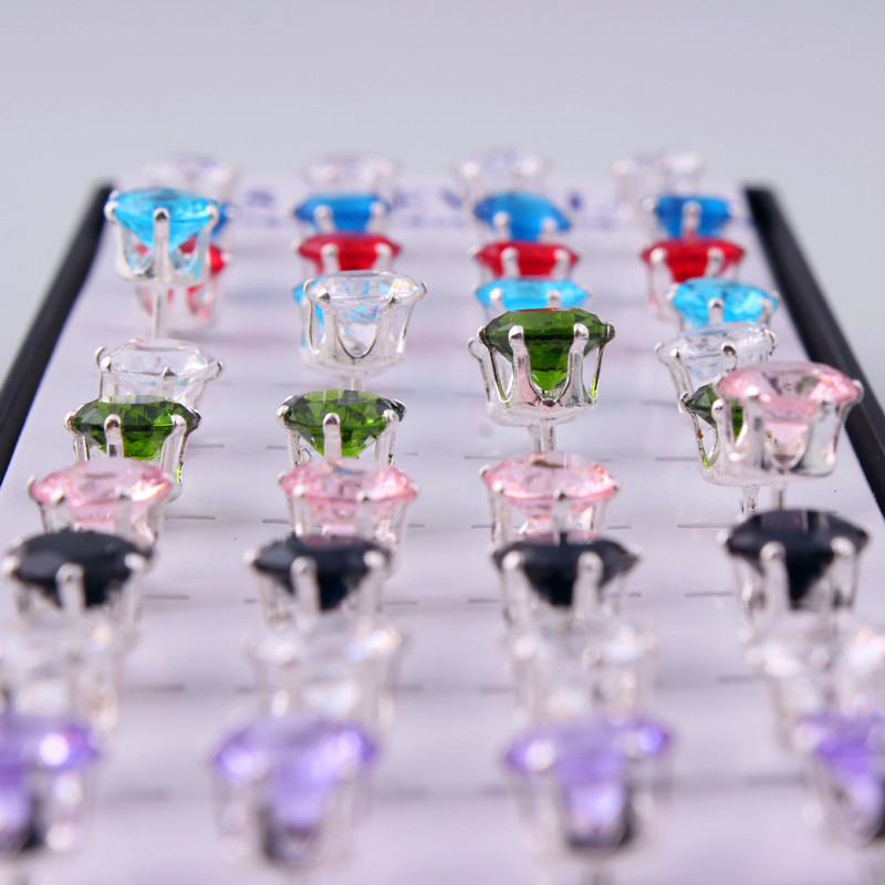 Fantasy jewelry wholesale latest design single hanging diamond earrings